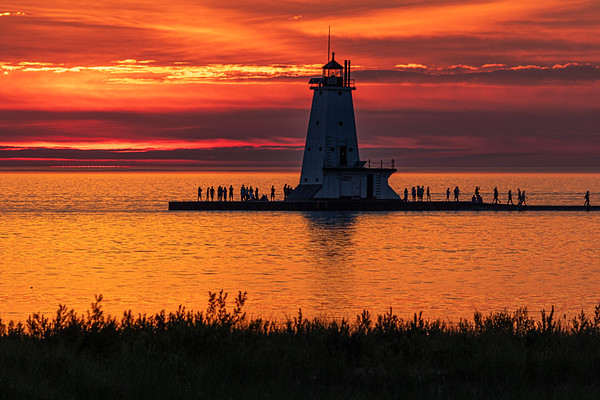 Warm Reflections in Ludington