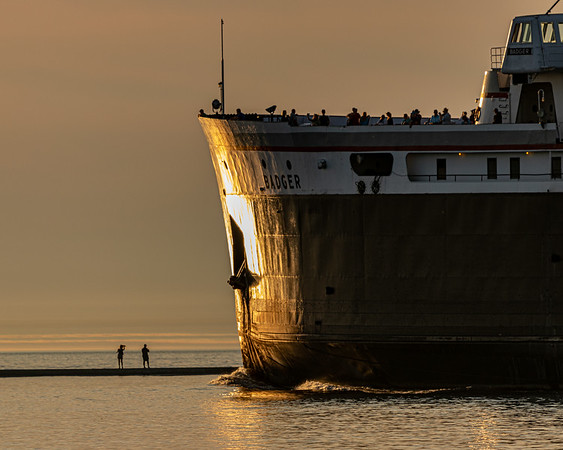 """All Hands On Deck!"" - The Badger Departs Ludington for Wisconsin"