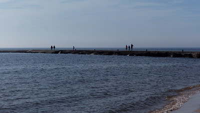 People on the Breakwater