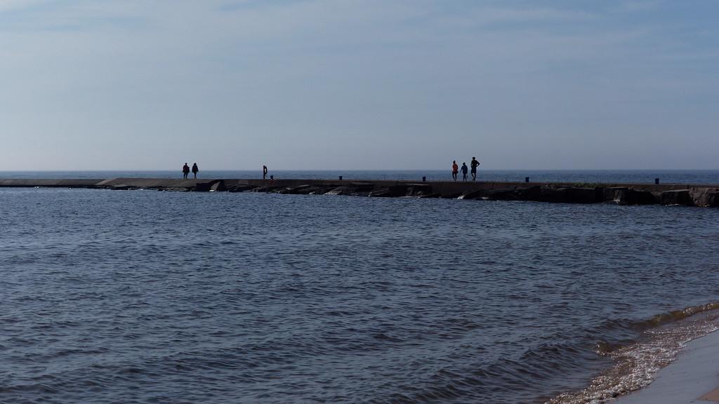 People on the Breakwater