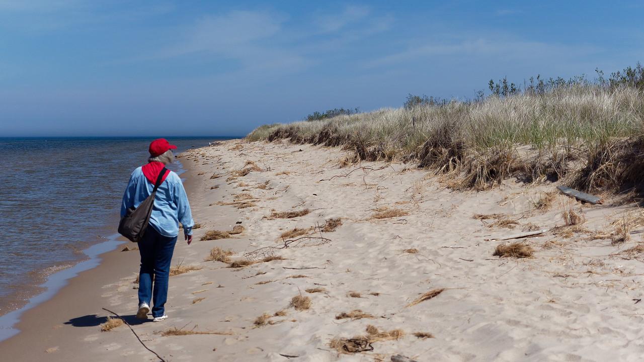 Joan on the Beach