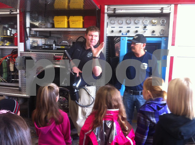 PK Girl Scouts Tom North firefighter