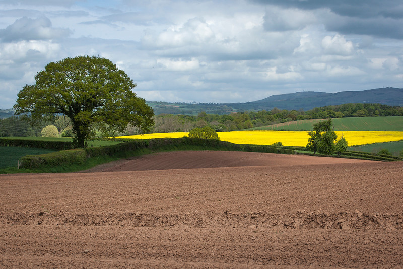 The spectacular Clee Hill in Shropshire - a view from Ludlow