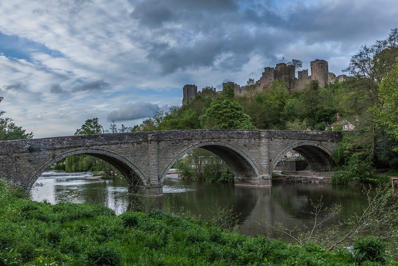 Dinham Bridge and Ludlow Castle