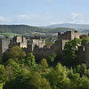 Ludlow castle, pictured from Whitcliffe Common.