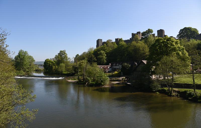 The river Teme at Dinham, Ludlow.