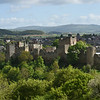 Ludlow castle pictured from Whitcliffe Common.