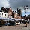 The Market Square Ludlow town centre.
