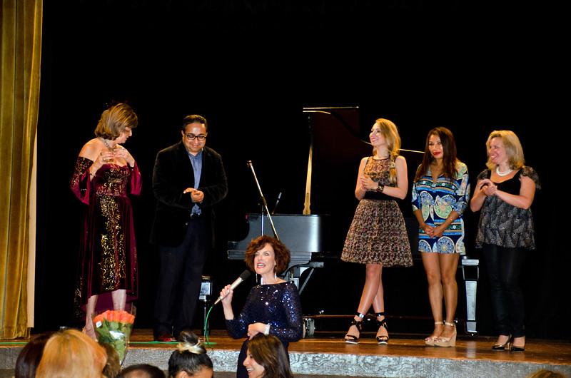 Ludmila on stage left - Ludmila Kisseleva-Eggleton birthday party at Hillside Club, Berkeley, CA