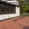 "Westcott Residence in Springfield, OH 9"" x 9"" Quarry tile flooring, designed by Frank Lloyd Wright"
