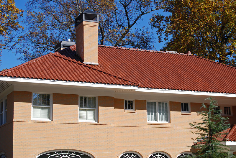 """18-3/8"""" Spanish """"S"""" Tile - Clay Red Color - 102 / 206 Ridge System with High Bump Terminals.  #206 Ridge Tiles are slot vented style."""