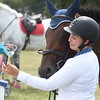 "PETE BANNAN-DIGITAL FIRST MEDIA  Kaitlyn Mintz of Schuylkill haven takes a selfie with ""Because I said so' after competing at the Ludwig's Corner Horse Show and Country Fair Monday."
