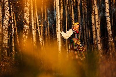 W stroju opoczyńskim ©Mateusz Matysiak