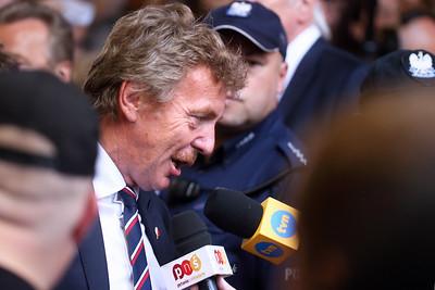 Zbigniew Boniek podczas wywiadu