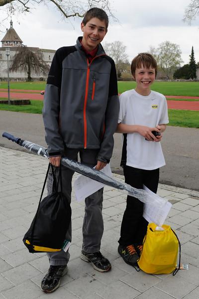 Siegerehrung Schaffhauser Jugendlaufcup 2011, 04.04.2012 © Reinhard Standke