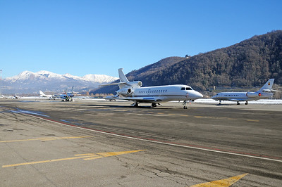 Lugano Airport Overview - 21.12.2017