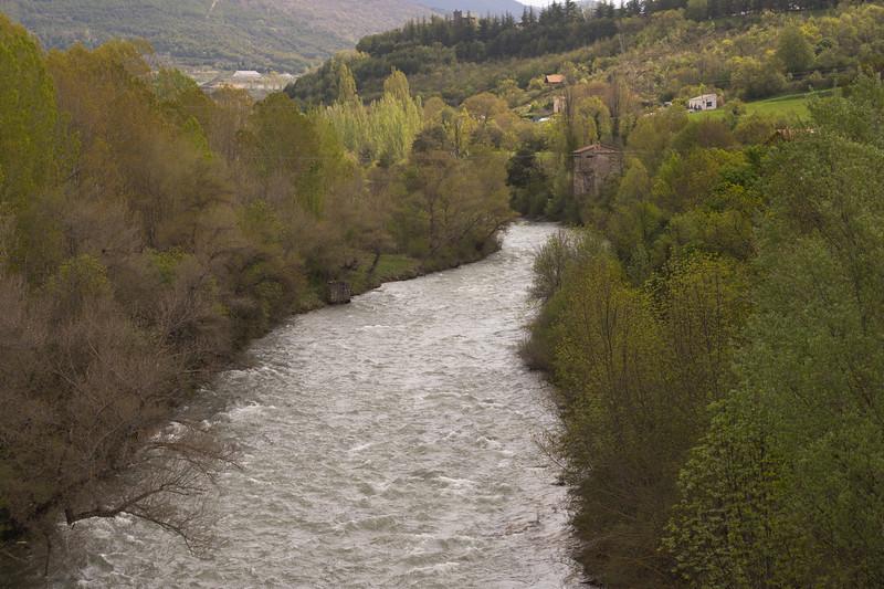 Río Aragón desde el puente de San Miguel