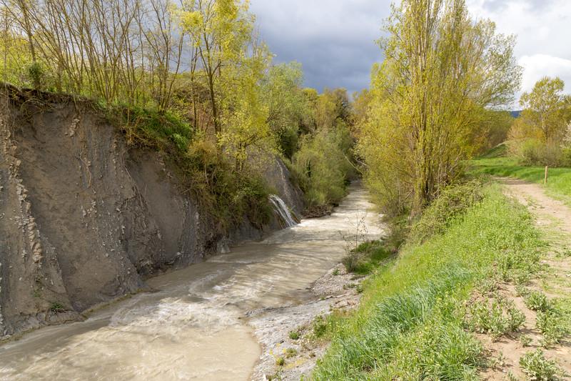 Río Gas, y senda de los ríos.