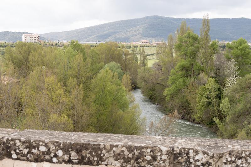 Río Aragón desde el puente de San Miguel, III