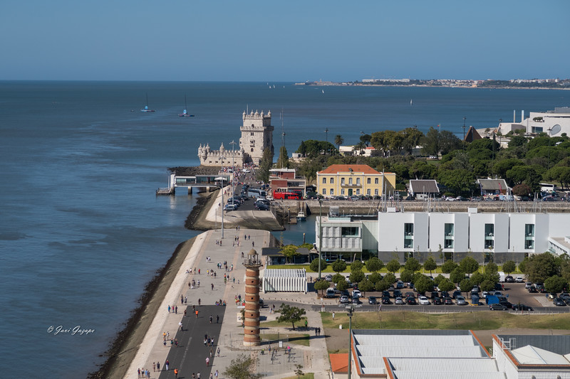 Vistas hacia la Torre de Belém