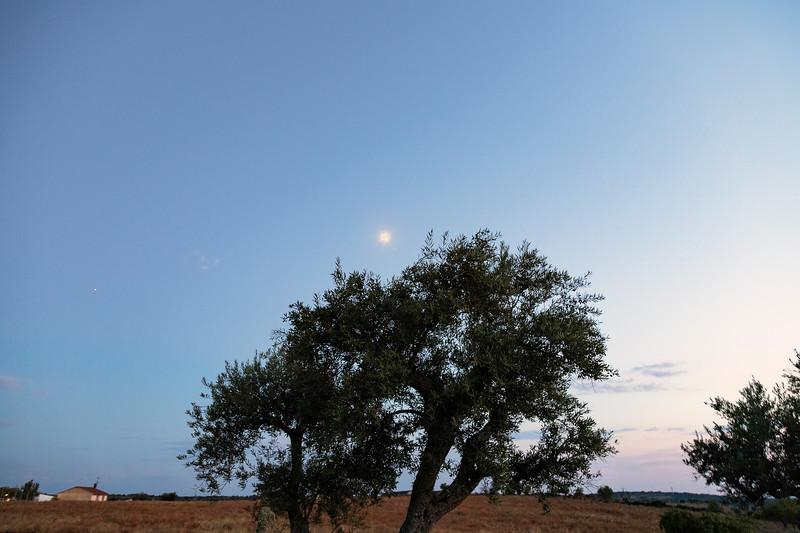 Puesta de sol en Pereña