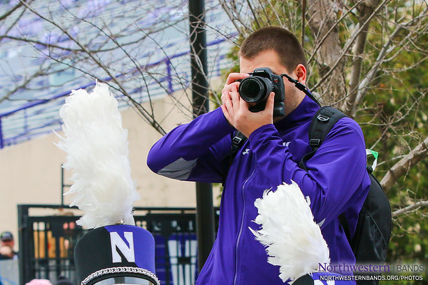 Lukas Gladic '19 is Official Photographer of the Northwestern University Bands