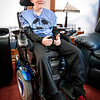 Luke Dillon of Westford is giving 2 thumbs up because Westford Acadmey's principal organized a fundraiser for Dillon to help get him the proper electric wheelchair so that he can keep up in his wheelchair soccer league. SUN/Caley McGuane
