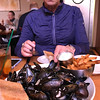 At the Point Brugge Cafe we had Belgian mussels with frites - delicious!