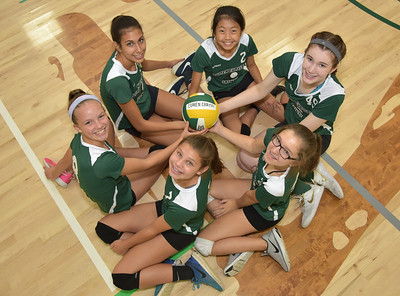 8th grade Girls VB B team