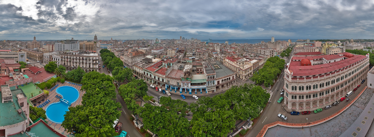 """""""Above the rooftops of Havana"""" (panorama)  © 2009 Falk Lumo  37"""" print. All rights reserved."""