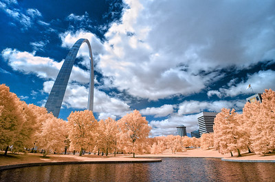 Arch Park Fantasy July 18, 2009  Captured with an infrared-converted Nikon D70s.
