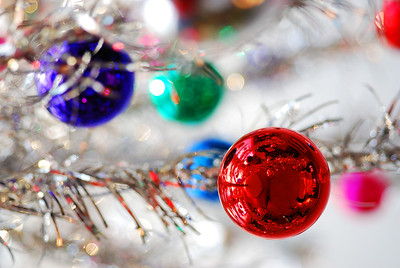Merry Christmas!  This is a shot of my retro aluminum Christmas tree - looking up.  Nikon D80 w/60mm Nikkor Micro f3.3 1/80 sec ISO 400