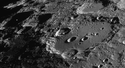 Long shadows on Clavius and Moretus (Aug 11, 2020)