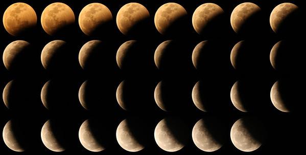 The course of a lunar eclipse