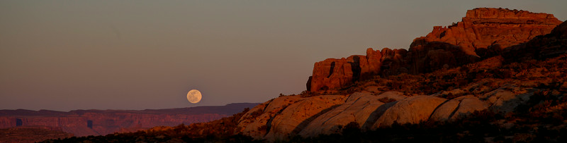 Moonrise over Arches National Park