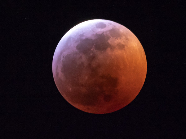 Nearing total lunar eclipse