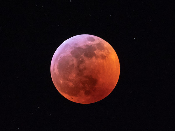 Almost total lunar eclipse