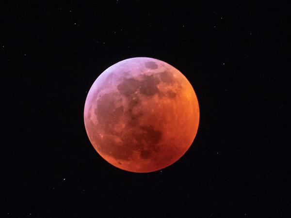 Almost total lunar eclipse