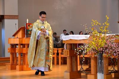 Preparing the altar