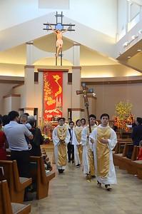 Closing procession