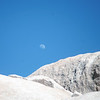 Day moon over Joshua Tree National Park