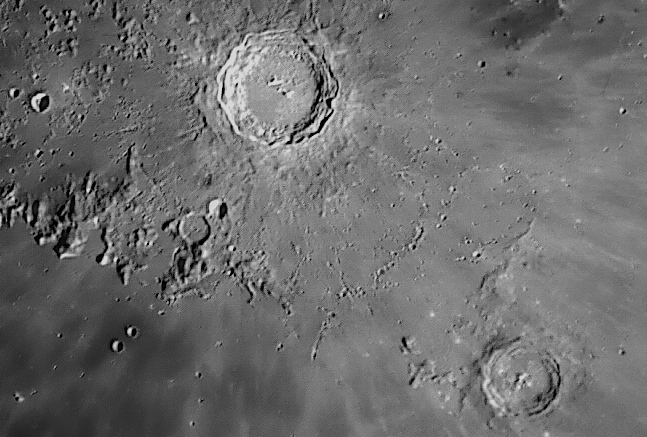 Crater Copernicus and Crater Eratosthenes