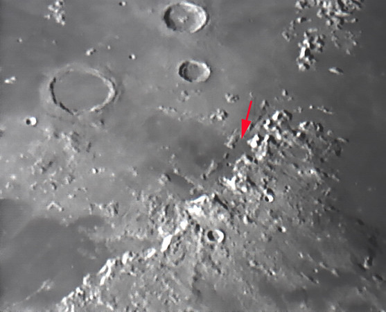 Rim Hadley Landing site of Apollo 15