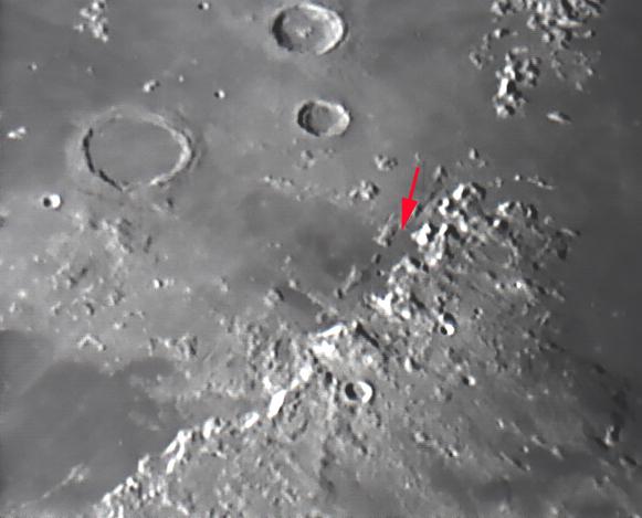 Rim Hadley Landing site of Apollo 15