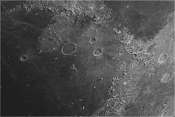 Crater Archimedes and the Montes Haemus Highlands