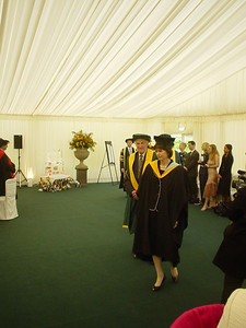The Procession - VIP Guests  ... and then the VIP guests, led by the academic registrar.