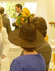 Daffo-Hat  This lady must have a good sense of humour.