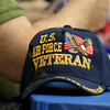 Samoset Middle School in Leominster held lunch with veterans on Thursday, November 9, 2017. This hat sat on the lunch table during the lunch. SENTINEL & ENTERPRISE/JOHN LOVE