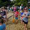 Spectators cheer on the racers during the annual Lunenburg cardboard boat race on Saturday afternoon. SENTINEL & ENTERPRISE / Ashley Green