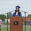 Class of 2018 salutatorian Sarah Hinsley addresses the crowd at Lunenburg High School's Saturday morning commencement ceremony. (SENTINEL & ENTERPRISE / AMANDA BURKE)